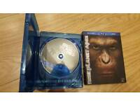 BLU-RAY DVD Rise of the planet of the apes- disc/film/movie