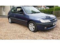 Peugeot 306 diesel turbo 3 door low mileage 90k £325