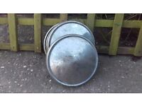 Set of 4 Vintage Hub Caps possibly from a 70s Vauxhall Viva