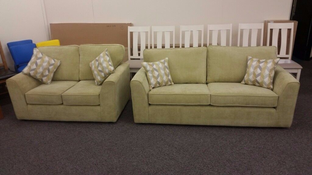 Designer 3 & 2 Seater Fabric Sofas Can Deliver View Collect Hucknall Nottingham