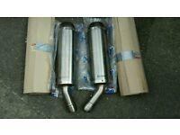BRAND NEW DUCATI 1098R TITANIUM AKRAPOVIC EXHAUST SILENCER END CANS 57411101A 57311101A