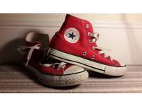 Red Converse All Star Shoes