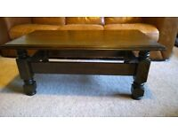 Chunky solid oak coffee table. Free delivery