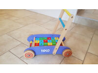 Tidlo Baby Walker with Blocks