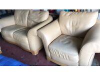 Magnolia Leather 3 piece suite