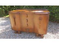 Jentique Art Deco style 1950s vintage sideboard / drinks cabinet. Collect NR20 Mattishall