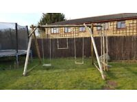 Wooden swings set suitable by all ages from toddlers to adults