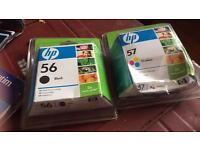 Printer Ink - HP Inkjet Cartridges 56 & 57