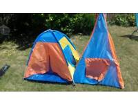 2 kids play tents or beach shades. Indoor or outdoor.