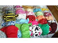Reusable Cloth Nappy Kit 30 Baba+Boo Nappies Cheeky Wipes Plus Accessories