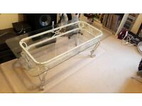 Glass coffee table free to collect ASAP