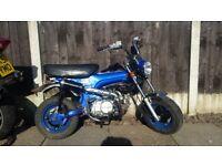 2012 Monkeybike 107cc . Full 12 months m.o.t