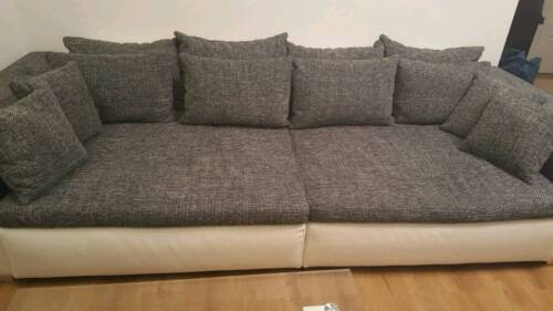 Couch Wohnlandschaft Big Sofa Kunst Leder Inkl Kissen In