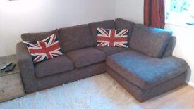 Corner sofa, brown , 2 years old