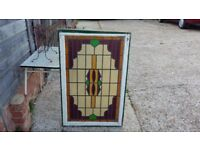Massive Vintage Stained Glass Window.