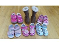 A bundle of Girl shoes size 4