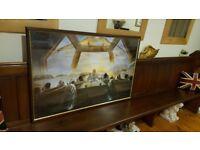 huge vintage Salvador Dali picture in vintage wood frame