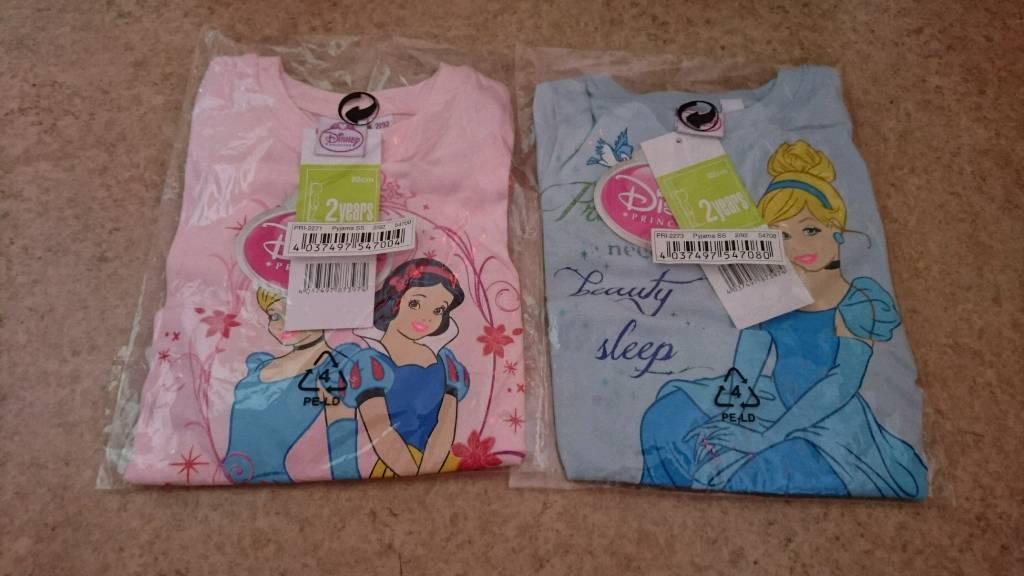 Girls and boys Disney pjs short sleeve