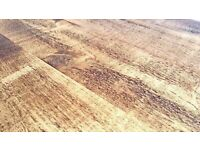 Tapered Leg Rustic Farmhouse Reclaimed Style Pine Kitchen Dining Table Any Size, Any Colour!