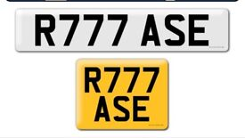 R777 ASE private Cherished personal personalised personal registration plate number