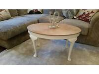 Dainty oval coffee table