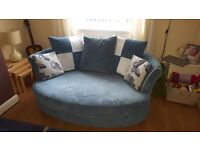2 Seater Cuddler Couch in Teal