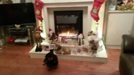 Fireplace with colour changing lights and matching mirror. Nearly new.