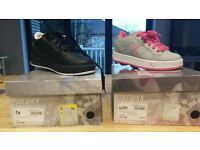 boys size 1 and girls size 11 heely's