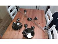 Ceiling spotlight lamps set of three pearl black nickel and chrome from B and Q