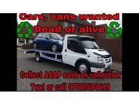 Cars .vans .caravans wanted