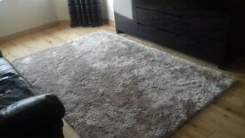 large luxury beigh rug 240 x 150 cms (2 months old) £95