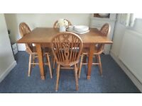 Vintage, solid wood, extendable table. Looking for quick sale