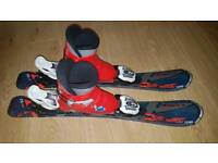 Children's ski 70cm with bidings and 2 pairs of ski boots