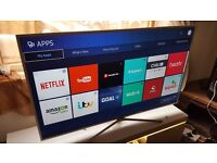 """SAMSUNG 55"""" Smart ULTRA SLIM FULL HD TV with built in Wifi,Freeview HD,GOOD Condition. 2016 model"""