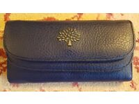 Ladies Navy Blue Purse/Wallet with Gold Coloured Tree Design to Front (NEW)
