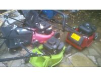 3 petrol lawnmowers for spares or repair