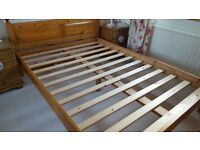 Pine Wooden Bed Frame nice condition