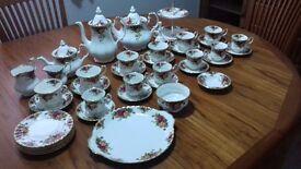 "Royal Albert Bone China Tea Set , ""Old Country Roses"""