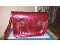 Pink glitter satchel