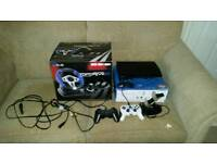 PS3 and 38 games plus steering wheel