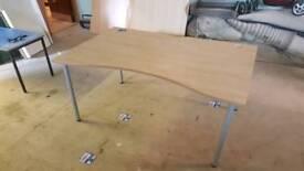 Beech rectangular office desks