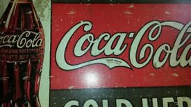 coca cola vintage style tin advertising picture