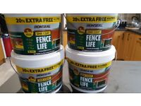 4 x 6L Ronseal Forest Green One Coat Fence Paint