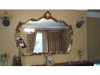 Ornate Over Mantle Mirror