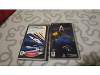 2 PSP games - Wipeout Pure and Star Trek: Tactical Assault