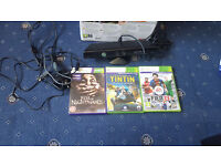 Xbox 360 Kinect and 3 Games + Power Cable