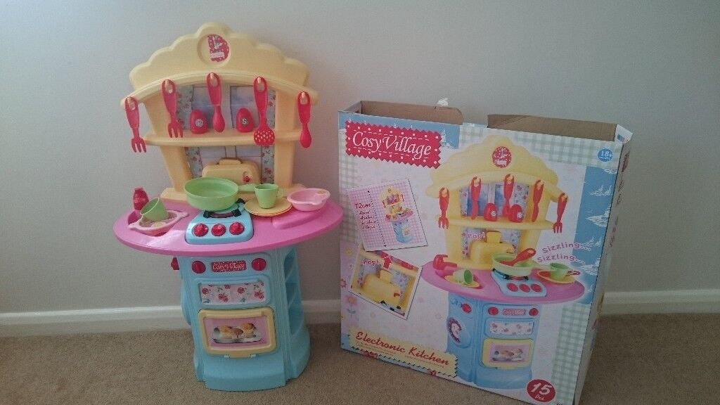 Cosy Village Electronic Kitchen For Kids 18 Months To 3 Years With Box Used