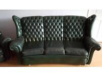 ARTFORMA Wingback Leather Sofa and Arm Chair - COLLECTION FROM CHESTER!