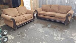 DESIGNER COUCH AND LOVESEAT. DELIVERY IS EXTRA