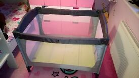 REDUCED. Mothercare travel cot with case